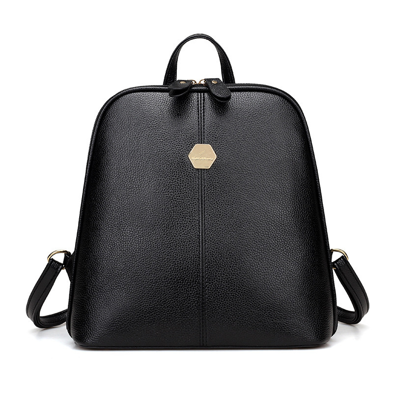 ONEFULL NEW FASHION PU leather backpack women College Wind soft skin Fashion Rivet bag brand