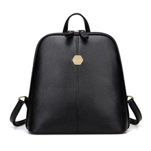 цена на ONEFULL NEW FASHION PU leather backpack women College Wind soft skin Fashion Rivet bag backpack brand