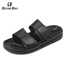 dreambox Summer vogue Korean model of the magic poster of a flip-flops males's footwear anti-skid flat seaside sandals