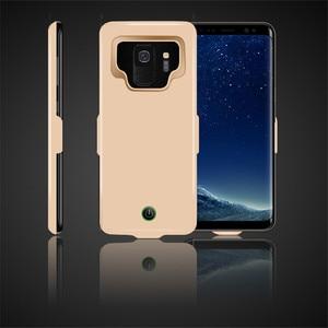 Image 4 - Funda de cargador de batería de 7000 mah para la cubierta de la energía del teléfono de la carga del TPU suave del Samsung galaxy S9 Plus para la carga del coche de Samsung