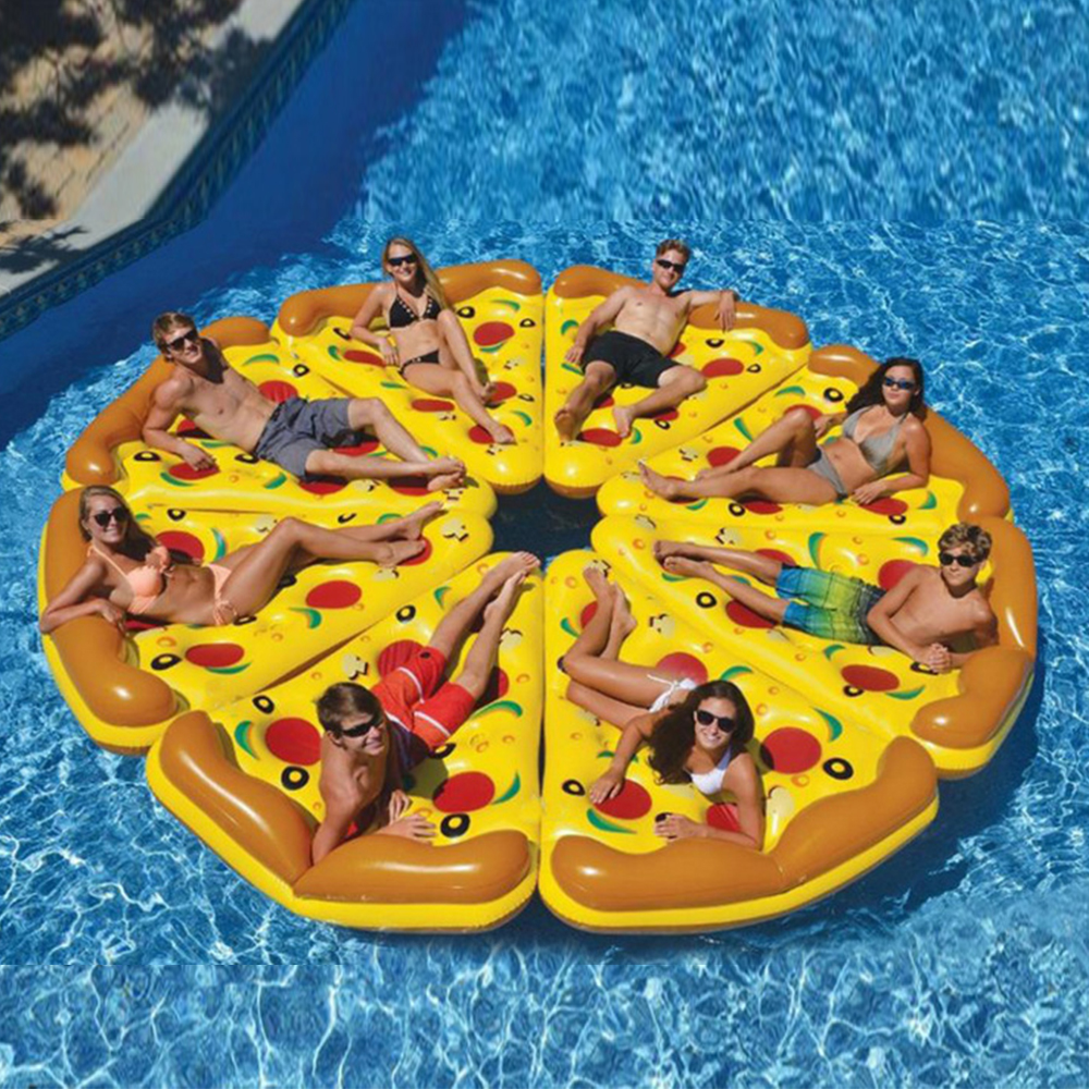 180*150 Cm Inflatable Pool Mat Pizza Row Color Floating Bed Swimming Floats Mattresses For Swimming Pool Toys Summer Water Toys