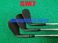 New SM7 Wedges Black SM7 Golf Wedges Golf Clubs 48/50/52/54/56/58/60/62 Degrees Steel Shaft With Head Cover