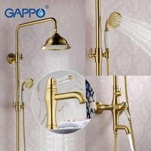 GAPPO badezimmer dusche wasserhahn set bronze badewanne brausebatterie Bad Dusche wasserhahn wasserfall Waschbecken Wasserhahn set GA1097-4 + GA2497-4