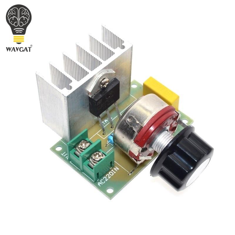 WAVGAT Hot Voltage Regulator Voltage Speed Controller AC 220V 4000W SCR Dimmer