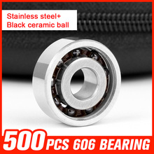 500pcs 606 Ceramic Bearings 606 Miniature Ball for Hand Spinner Medical Equipment Roller Skating Hardware Tools Accessories