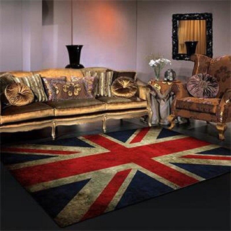 Retro British Flag Rugs And Carpets 160*100/120*80cm Living Room Carpet