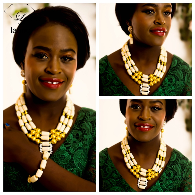 Laanc Brand White Coral Beads Necklace Designs Nigerian Wedding African Beads Jewelry Set AL286Laanc Brand White Coral Beads Necklace Designs Nigerian Wedding African Beads Jewelry Set AL286