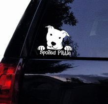 Tshirt Rocket Pitbull Decal - Spoiled Pittie Peeking Pit Face Bull Dog Car Decal, Laptop Window Sticker