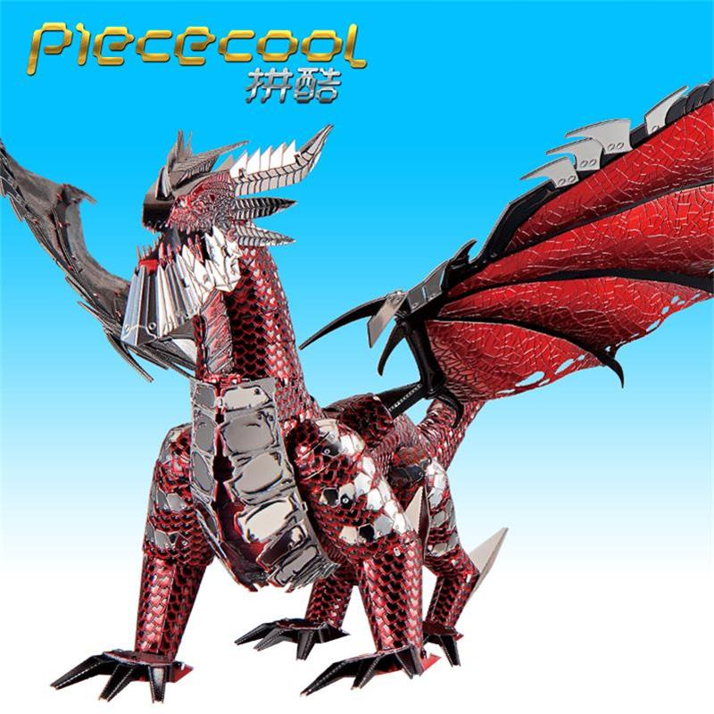 Image 2 - 2019 Piececool 3D Metal Puzzle The Black Dragon Model DIY Laser Cut Assemble Jigsaw Toy Desktop decoration GIFT For Adult kidsPuzzles   -
