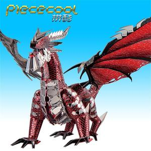 Image 2 - Rompecabezas de Metal 3D The Black Dragon para niños y adultos, juguete de decoración de escritorio con corte láser DIY, 2019 piezas