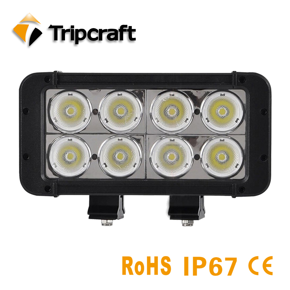 Tripcraft 7.8inch 80W OffRoad LED Work Light Bar for Tractor Boat Truck SUV ATV UAZ Spot Flood Beam 12v24v LED Lamp Two Rows sufemotec 5d 20 inch 210w led work light bar spot flood combo beam for tractor boat offroad 4wd 4x4 truck atv suv led headlight