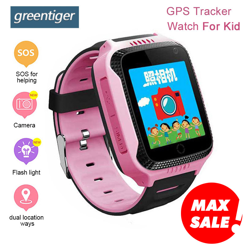 купить Greentiger Q528 GPS Kids Smart Watch with Touch Screen Camera GPS Tracker Smart watch children Monitor SOS for Baby PK Q50 q90 недорого