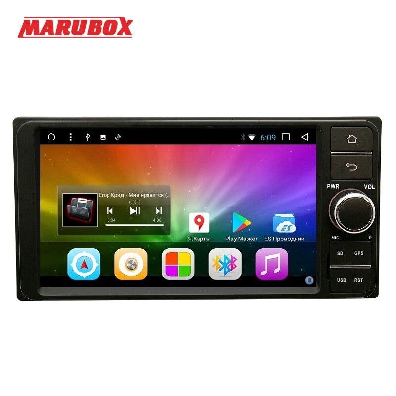 Marubox 7A701DT8, Универсальная магнитола для Toyota на Android 7.1,восьмиядерный процессор Allwinner T8,оперативная память 2 Гб, встроенная память 32Гб, 71024 * 600 HD,...