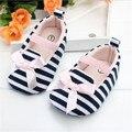 Recién nacidos zapatos del bebé de rayas de moda bowknot princesa infantil zapatos de suela suave adecuado 0-18 M zapatos de bebé