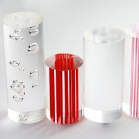 THZ Acrylic Clear Rods With Bubbles Inside Of OD38mm X 1000mm PMMA Plastic Rod Can Be