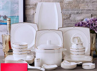 Bone china tableware European dishes set Western luxury wedding gifts household Phnom Penh ceramic bowls