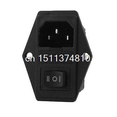 Screw Type IEC 320 C14 Male Plug AC 250V 15A Power Plug Inlet Socket Connector
