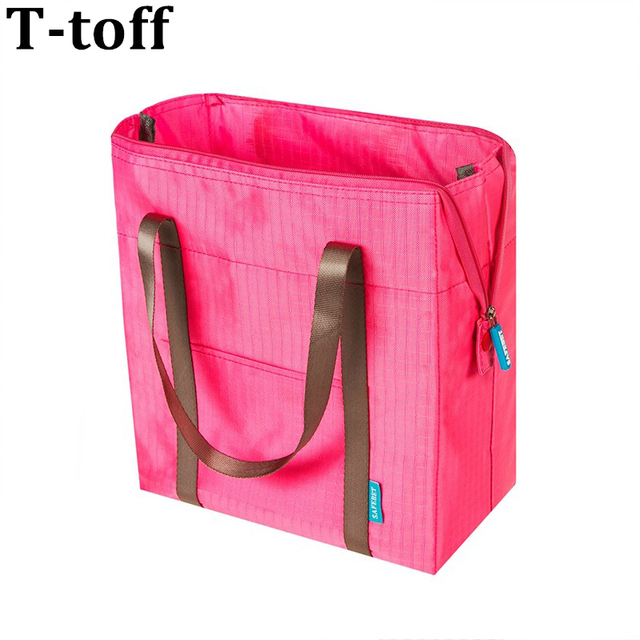 Women Portable Shouder Insulated Lunch Bag Box Thermal Ice Picnic Cooler Food Travel Foldable