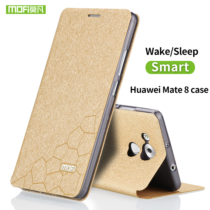 Huawei mate 8 case cover silicon protect back Mofi Luxury Flip Leather case for Huawei Mate