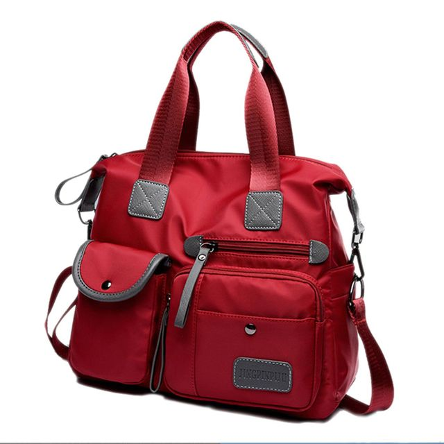DCOS New Ladies Fashion Waterproof Oxford Tote Bag Casual Nylon Shoulder Bag Mummy Bag Large Capacity Canvas Bag 1