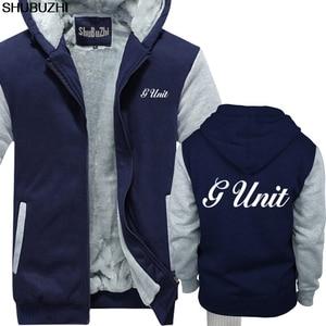 Image 3 - Winter dicke hoodies Neue G Einheit 50 Cent Rap Hip Hop Logo männer Schwarz hoodie S 5XL Premium Herren winter jacke mantel sbz1465