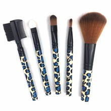 5Pcs/Set Professional Makeup Brushes Tool Face Foundation Powder Contour Concealer Blush Eye Shadow Eyebrow Cosmetic Brush Set fafula professional makeup tool double ended contour define eye shadow brush black