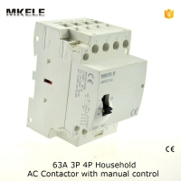 MKWCT 63M Manually Operated Din Rail Household Contactor Ac Contactor 230v 63a 4p 4no Household Contactors