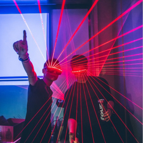 Lunettes Laser sans fil clignotantes rapides de masque LED de DJ de partie, jouets lumineux lumineux d'éclairage lumineux pour le DJ de danse