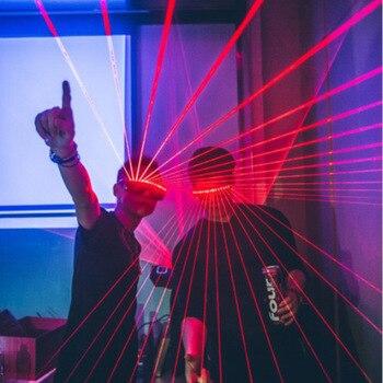 Party DJ Led Masker Quick Knipperende Draadloze Laser Bril ...