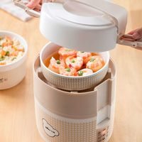 Bear DFH-B16G2 Electric Lunch Box Double Layer Heating Cooking Thermal Lunch Box Rice Cooker High Capacity Reservation