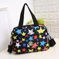 Lightweight large capacity floral flap bag Contracted joker women messenger bag Rural style Wave point printing crossbody bag
