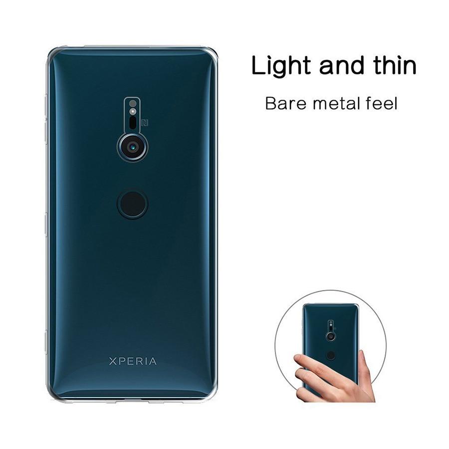 For Sony XZ2 Compact Case Transparent TPU Xperia Mini Premium Cases XA2 Plus L2 XZ3 XA3 L3 XZ4 Clear