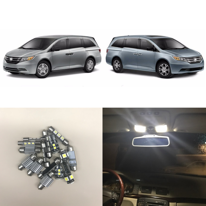 Fit For Honda Odyssey 2011-2016 Interior Package <font><b>Led</b></font> <font><b>Light</b></font> Bulbs <font><b>Kits</b></font> Map Door <font><b>Vanity</b></font> <font><b>Mirror</b></font> Trunk/Cargo License Plate Lamp