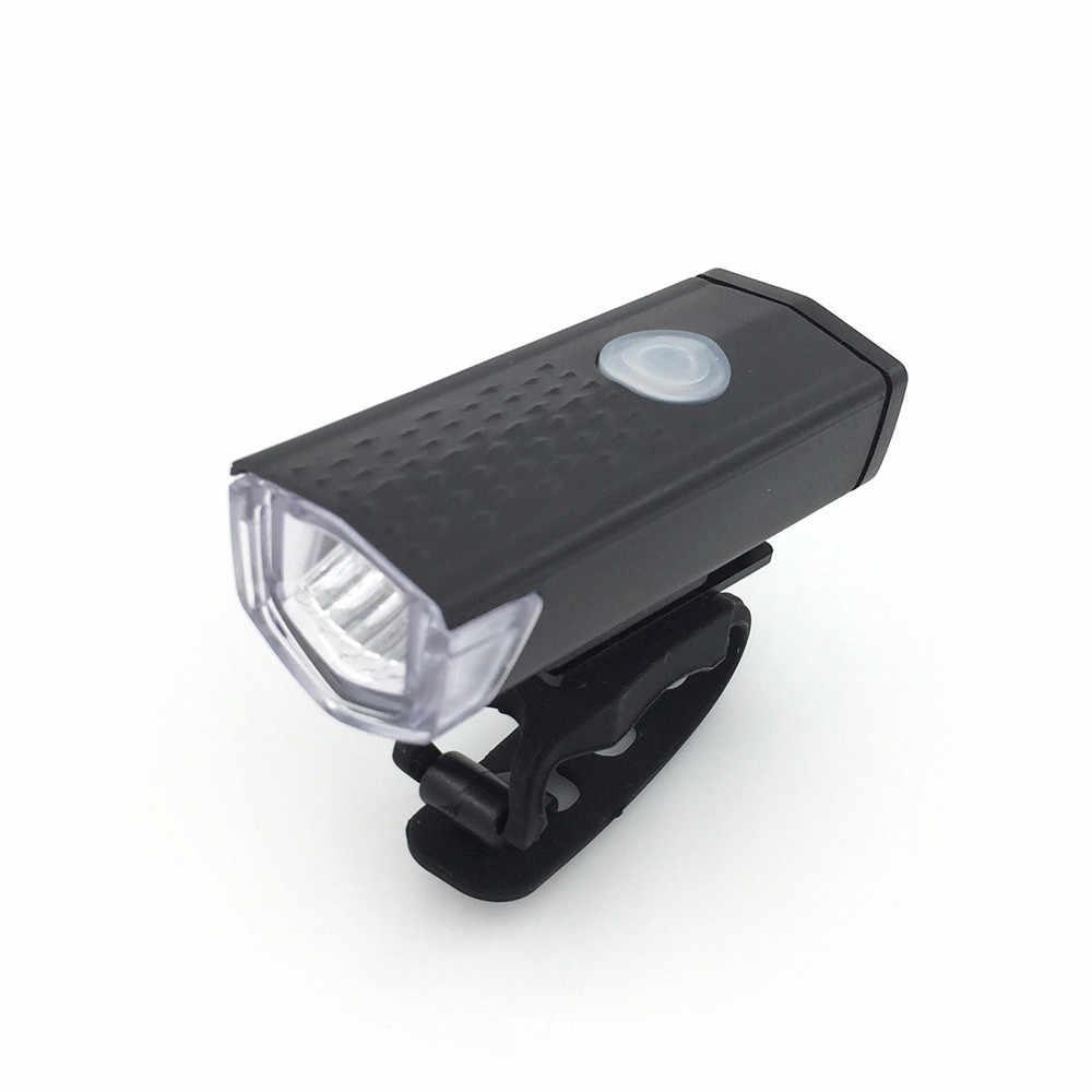 USB Перезаряжаемый светодиодный велосипед велосипедный передний свет Headlihgt лампа факел PC ABS 30-50 метров в ночное время Li-Poly батарея # OX