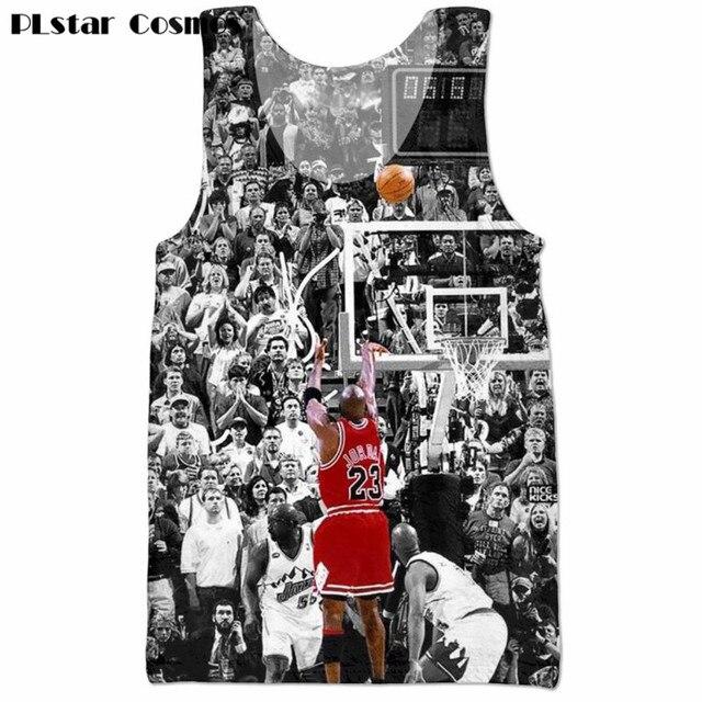 86f8028d2735 PLstar Cosmos Mens Jordan Tank tops Jordan last shot 3D Printed Hip Hop  vest 2018 dummrt Men Hipster Streetwear Punk vest