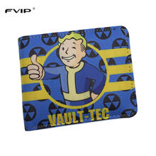 FVIP New Arrival Game Fallout Wallet Vault Tec Cool Design Cartoon Wallets Dollar Price
