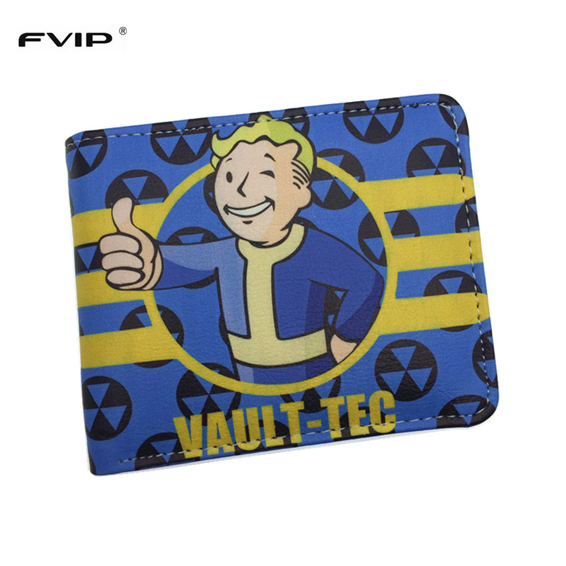 New Arrival Game Fallout Wallet Vault Tec Cool Design Cartoon Wallets Dollar Price