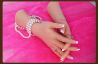 Бесплатная доставка! Best Реалистичного Женский мягкий силиконовый гибкий Манекен рук манекен для кольца браслет и перчатки Дисплей