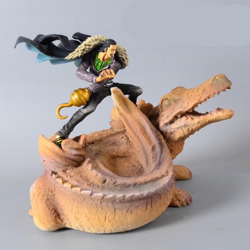 Dessin animé une pièce Sir Crocodile or crochet pour la main gauche Sasha Vujacic Fruit GK Statue PVC Collection modèle jouet M1659