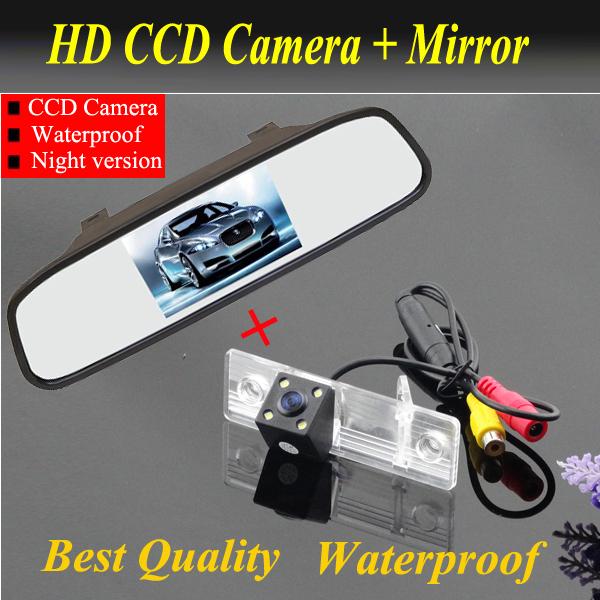 Ccd HD Car câmara de visão traseira com 4.3 polegada carro espelho retrovisor Monitor para Chevrolet Epica / Lova / Aveo / Captiva / Cruze / Lacetti