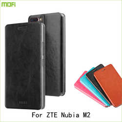 For ZTE Nubia M2 Case Mofi Flip PU Leather Stand Cover Case For ZTE Nubia M2 Phone Cover
