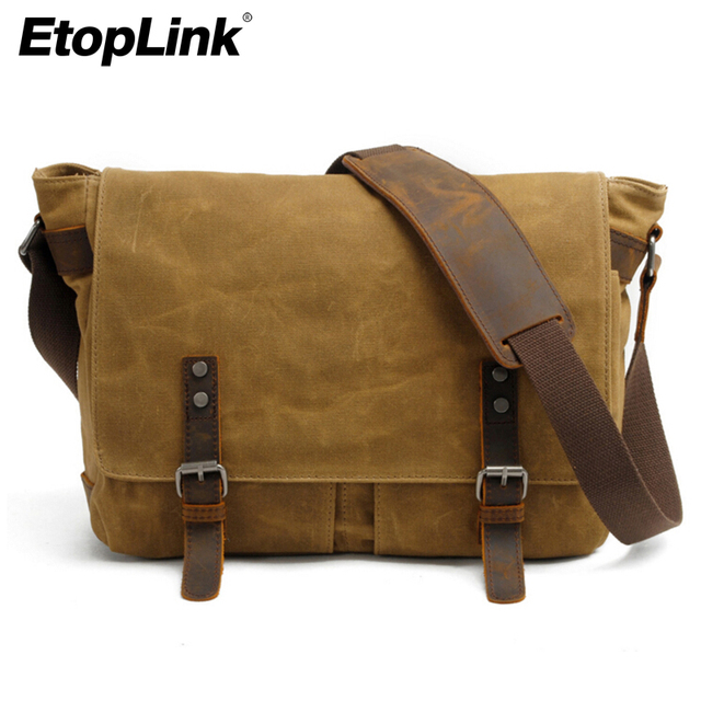 E6928 Canvas Vintage Dslr Slr Camera Bag Shoulder Strap Case Casual Messenger Pack For Canon