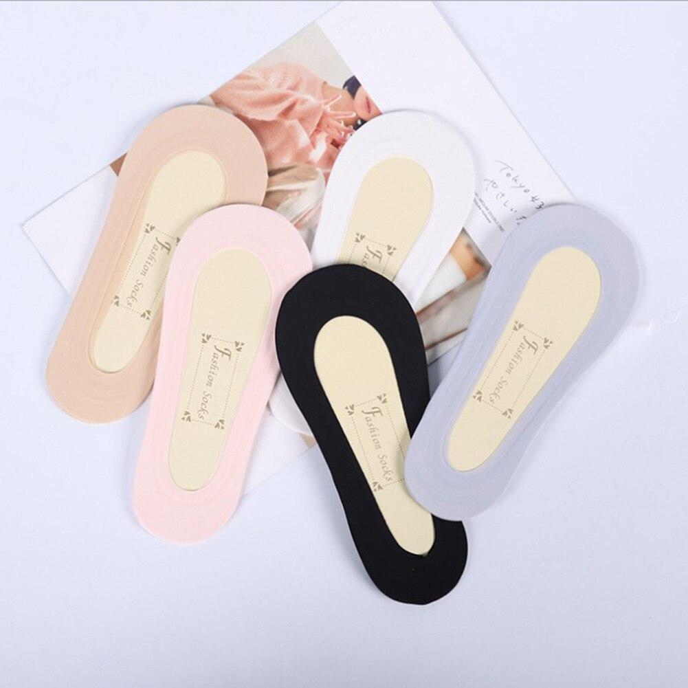 1 Paar Boot Einfarbig Unsichtbare Socken Frauen Nicht-slip Baumwolle Socke Low Cut Casual Keine Zeigen Nicht Anti Slip Versteckte Mädchen Damen Socken Damensocken & Strümpfe