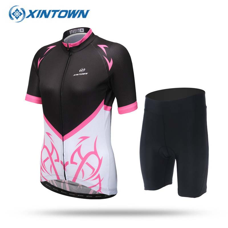 2017 Women Pink-Black Cycling Jersey MTB Bicycle Clothing Bike Clothes Maillot Ropa Ciclismo Short Sleeve Sportwear  breathable cycling jersey summer mtb ciclismo clothing bicycle short maillot sportwear spring bike bisiklet clothes ciclismo