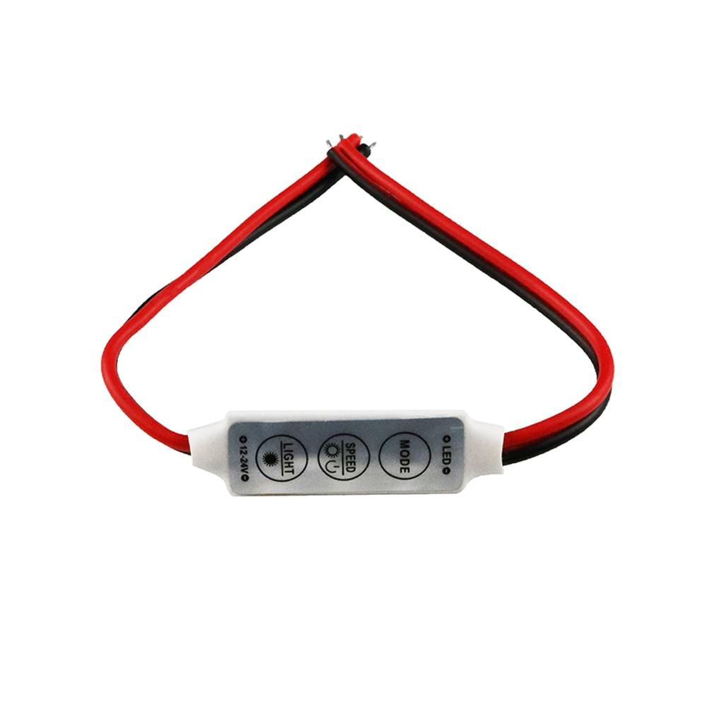 NEW 12V Mini 3 Keys Single Color LED Controller Brightness Dimmer For Led 3528 5050 Strip Light Wholesale 1PCS DJ