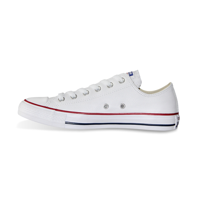 US $109.01 15% OFF|100% original Converse all star Chuck Taylor pu leather canvas shoes men women sneakers low classic Skateboarding Shoes 132174 in