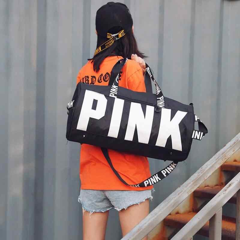 Fashion Gadis Duffle Tas Zipper Bahu Liburan Musim Panas Victoria Pantai Tas Bahu Wanita Kapasitas Besar Perjalanan Tas