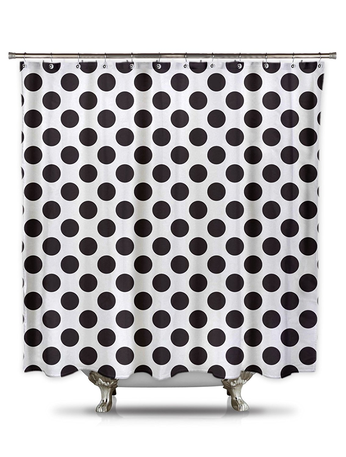 Polka dot shower curtain black and white - Warm Tour Black And White Polka Dot Shower Curtain100 Polyester Mildew And Wrinkle Resistant