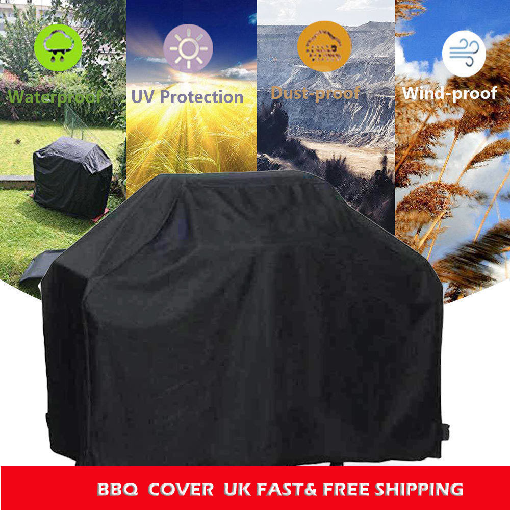 UK 3XS//2XS//XS//S//M//L BBQ Cover Waterproof Barbecue Covers Patio Grill Protector L