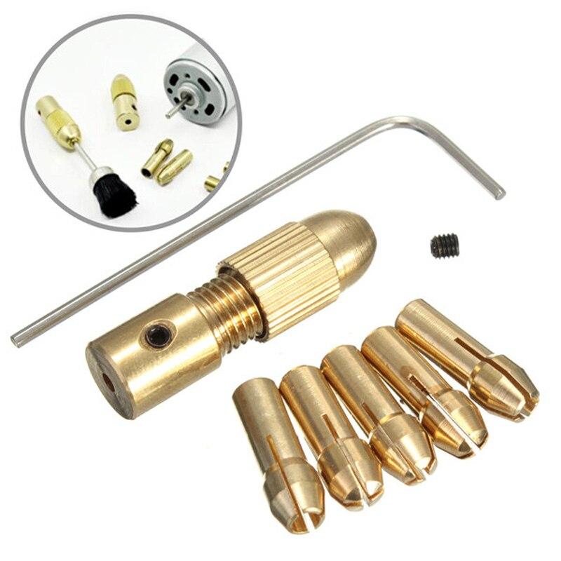 7pcs Mini Drill Bits Collet Mandril Dremel Drill Chucks Adapter Small Electric Drill Accessories Sta
